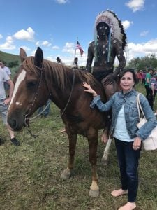 At reenactment of the Battle of the Little Bighorn, 2018