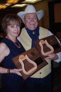 Michael Blake and I share the Stirrup Award
