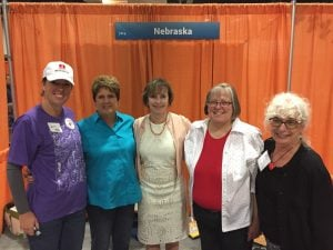 The Nebraska booth at the National Book Festival, 2017