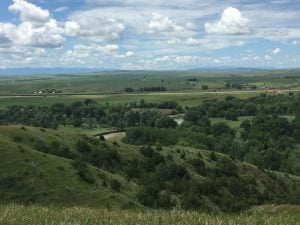 The magnificent valley of the Little Bighorn, Montana